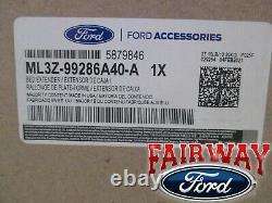 21 Thru 22 Ford F-150 F150 Oem Véritable Ford Black Stowable Bed Extender Kit Nouveau