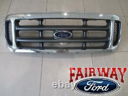 99 À 04 Super Duty F250 F350 F450 F550 Oem Genuine Ford Chrome Grille Grill Grill