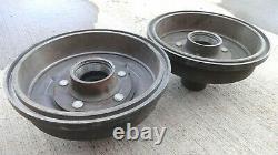 Nos 1960s 1970s Dodge Truck 4x4 Front Brake Drums Hubs 5 Lug Original 48 Splines