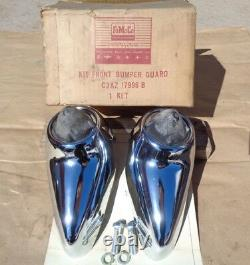 Nos 1963 Ford Galaxie 500 Front Bumper Guard Kit Original Accessory Paire XL