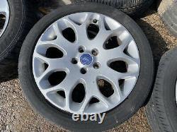 Véritables Oem Ford Focus 17 Roues En Alliage 5x108 + Pneus Connectent Mondeo Jaguar