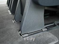 Véritables Oem Pliage Triple Sièges Arrière Incl Belts Fixations Pour Ford Transit Custom